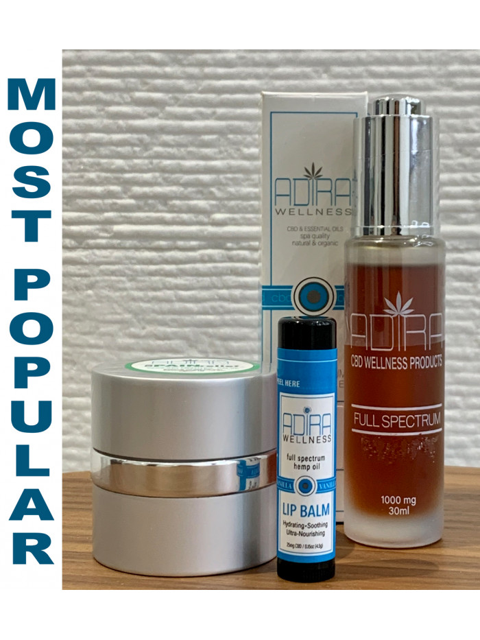 1000MG Tincture, COOLING MENTHOL Salve & LIP BALM PACKAGE